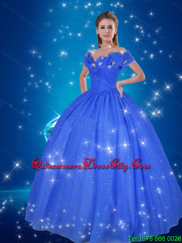 Cinderella Quinceanera Dress in Blue