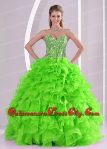 2021 Spring Puffy Sweetheart Beading High Fashion Quinceanera Dress with Full Length