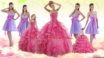 Coral Red Strapless Beading Sweet 16 Dress and Sweetheart Beading Prom Dresses and Halter Top Little Girl Dress