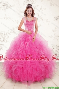 Beading and Ruffles Quinceanera Dress and Strapless Knee Length Baby Blue Dama Dresses and Rufles Cute Flower Girl Dress