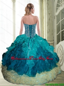 2021 Elegant Beading and Ruffles Sweetheart Quinceanera Dresses in Multi Color