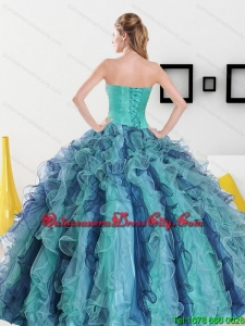 2021 Perfect Sweetheart Quinceanera Dresses with Appliques and Ruffles