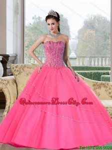 Fashionable Beading Strapless Quinceanera Dresses for 2022