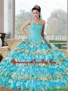 Fashionable Beading and Ruffled Layers Sweetheart Quinceanera Dresses for 2022