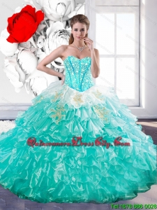 Luxurious Sweetheart Ball Gown Quinceanera Dresses with Beading and Ruffles