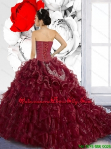 Modern Sweetheart Ruffles and Appliques Quinceanera Dresses for 2022