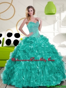 Top seller Sweetheart Beading and Ruffles Quinceanera Dress for 2022
