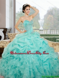 2021 In Stock Sweetheart Quinceanera Dresses with Ruffles and Pick Ups