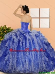 In Stock Made Beading and Ruffles Sweet 15 Dresses in Multi Color
