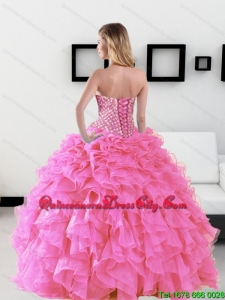 Luxurious Beading and Ruffles Sweetheart Quinceanera Dresses for 2022