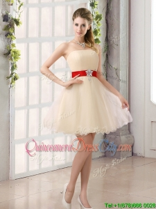 2022 Perfect A Line Organza Dama Dress with Mini Length