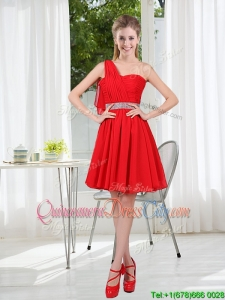 The Brand New Style Bridesmaid Dress Chiffon Ruching with A Line