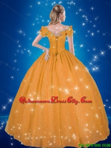 2021 Elegant Cinderella High Fashion Quinceanera Dresses with Hand Made Flowers