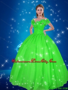 New Style Ball Gown Cinderella Quinceanera Dresses in Green