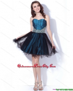 Multi Color Sweetheart Sequined and Ruffled 2015 Dama Dresses