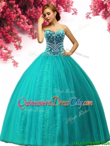 New Arrivals Beaded Quinceanera Dress in Turquoise for Spring
