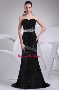2021 The Most Popular Beading Sweetheart Mother of the Bride Dresses in Black