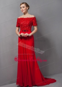 Custom Made Appliques Red Mother Of The Bride Dress For 2021