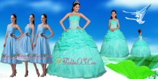 Beautiful Apple Green Beauty and the Beast Quinceanera Package