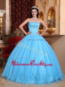 Recommended Sweetheart Neck Aqua Masquerade Sweet 15 Sets