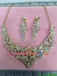 Exclusive Beaded Ladies Jewelry Set in Gold