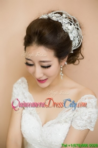 2022 Feminine Silver Tiaras with Beading for Women