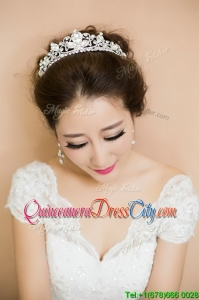 2022 Modest Silver Tiaras with Beading
