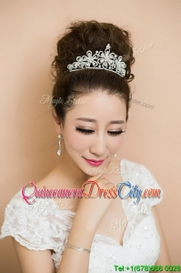 Beaded Silver Comfortable Tiaras for Women