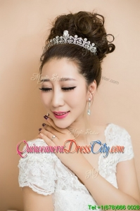Suitable Silver Tiaras with Beading