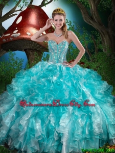 Fall Popular Quinceanera Dresses with Beading and Ruffles