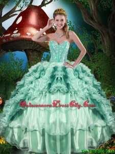 2020 Wholesale Sweetheart Quinceanera Dresses with Beading and Ruffles