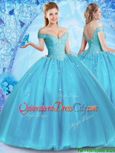 2022 Perfect Off the Shoulder Quinceanera Dress with Venetian Pearl