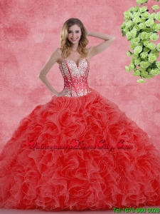 2020 Pretty Sweetheart Beaded Quinceanera Dresses with Ruffles