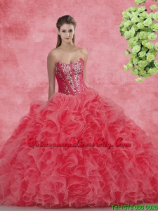 New Style Strapless Beaded and Ruffles Quinceanera Dresses for 2020