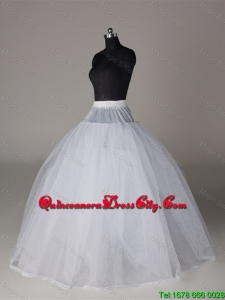 Fashionable Organza Ball Gown Floor-length Petticoat in White