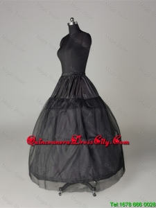 Unique Organza Ball Gown Floor-length Black Petticoat