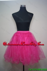 Unique Organza Mini-length Prom Petticoat in Hot Pink
