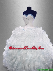 2021 Dynamic Sweetheart Quinceanera Dresses with Beading and Ruffles