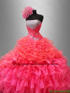 2020 Perfect Strapless Quinceanera Dresses with Sequins and Ruffles