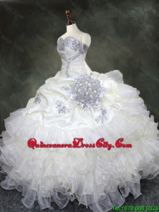 2020 Discount Ruffled Layers Quinceanera Gowns with Beading and Sequins
