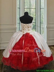 Beautiful Ruffled Layers Embroideried Little Girl Pageant Dress in Organza and Taffeta