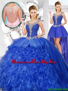 New Style Ball Gown Beaded Detachable Quinceanera Dresses with Scoop