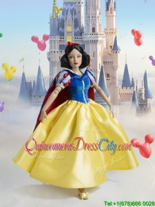 Best Snow White Stain Quinceanera Doll Dress in Yellow