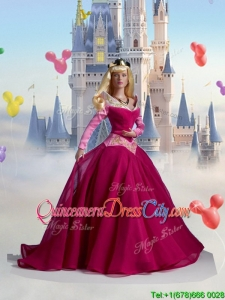 The Sleeping Beauty Best Wine Red Quinceanera Doll Dress for 2020