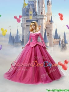 The Sleeping Beauty Tulle Quinceanera Doll Dress in Fuchsia