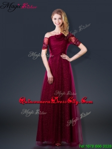 Perfect Empire Appliques Mother of the Dresses with Asymmetrical