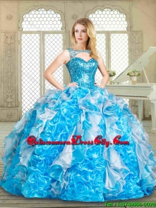 Fashionable Sweetheart Sweet 16 Dresses with Paillette and Ruffles