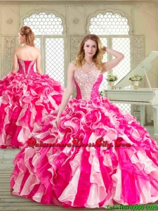 New Style Multi Color Sweet 16 Dresses with Beading and Ruffles