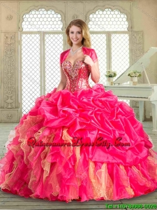 Popular Sweetheart Quinceanera Gowns with Pick Ups and Ruffles