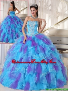 2020 Ball Gown Beading and Appliques Quinceanera Dresses